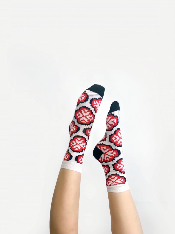 jkh julia kaja hrovat slovetno flower unisex socks perfect gift made in slovenia motiv triglavske roze