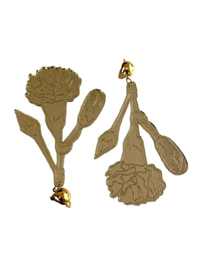 Gold Carnation earrings
