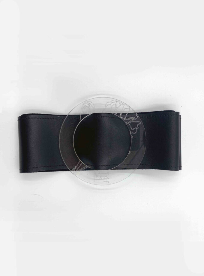 LEATHER WIDE BELT