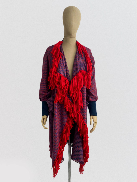 jkh julia kaja hrovat fringe artisanal coat