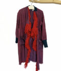 fringe silk robe coat