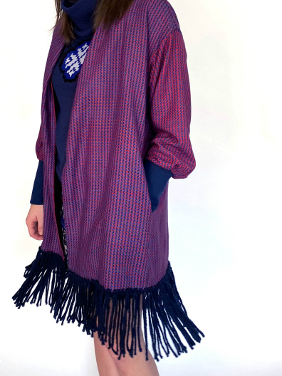 fringe silk sweater JKH
