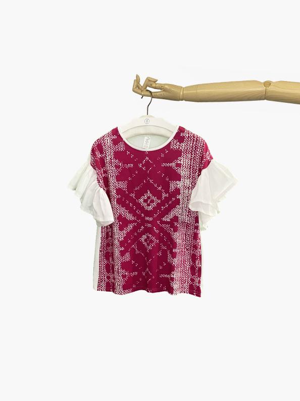 slovetno ruffle pink tshirt