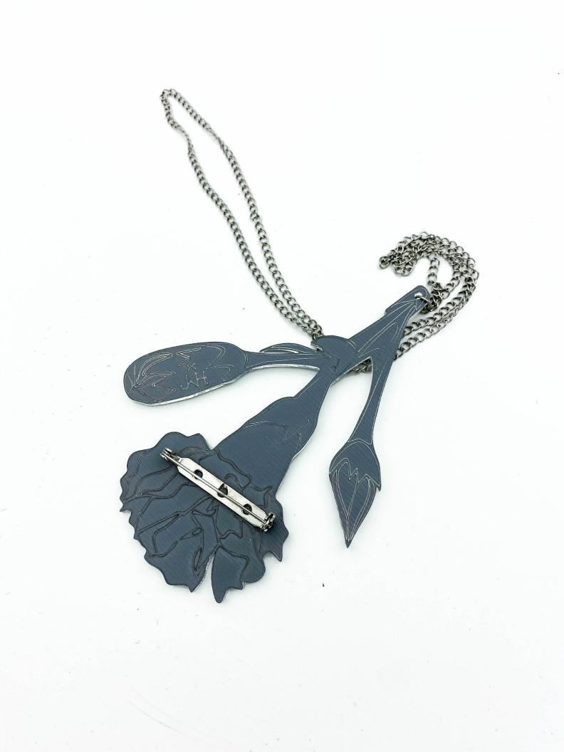 silver carnation shape JKH jewellery