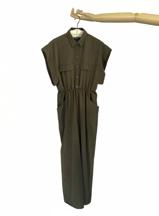 jkh olive green wide leg jumpsuit