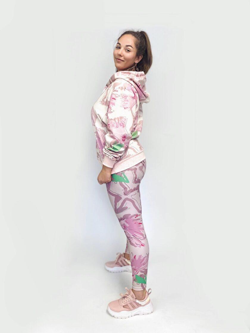julia kaja hrovat jkh leggings carnation print yoga leggings
