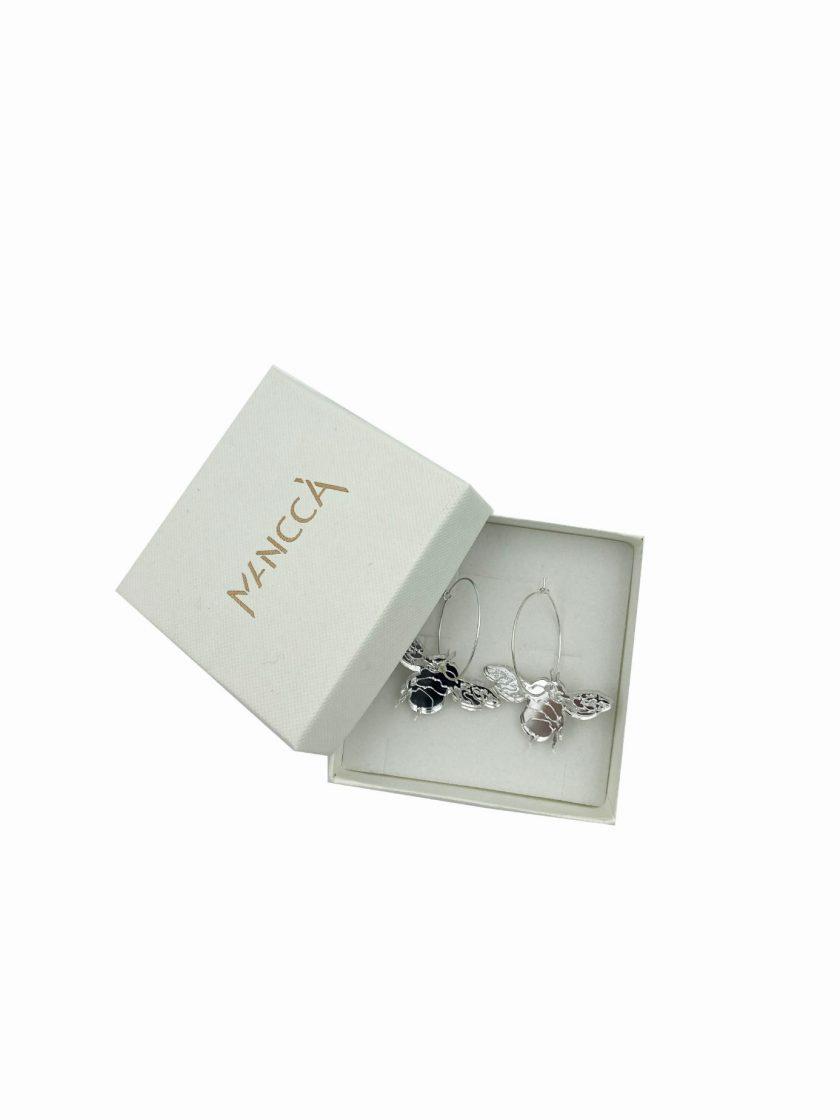 jkh silver bee hoops earrings julia kaja hrovat online shop plexi glass earrings