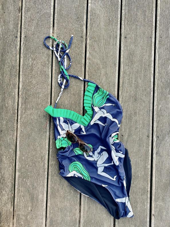 jkh julia kaja hrovat swimsuit one piece swimsuit printed ruffles