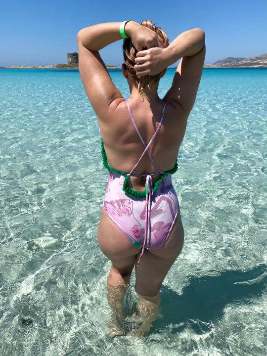 jkh wild carnation print swimsuit one piece swimwear heritage pattern pink swimsuit