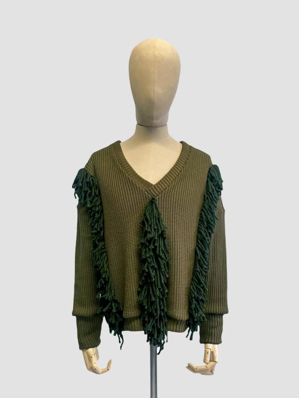 jkh boho knit fringe sweater