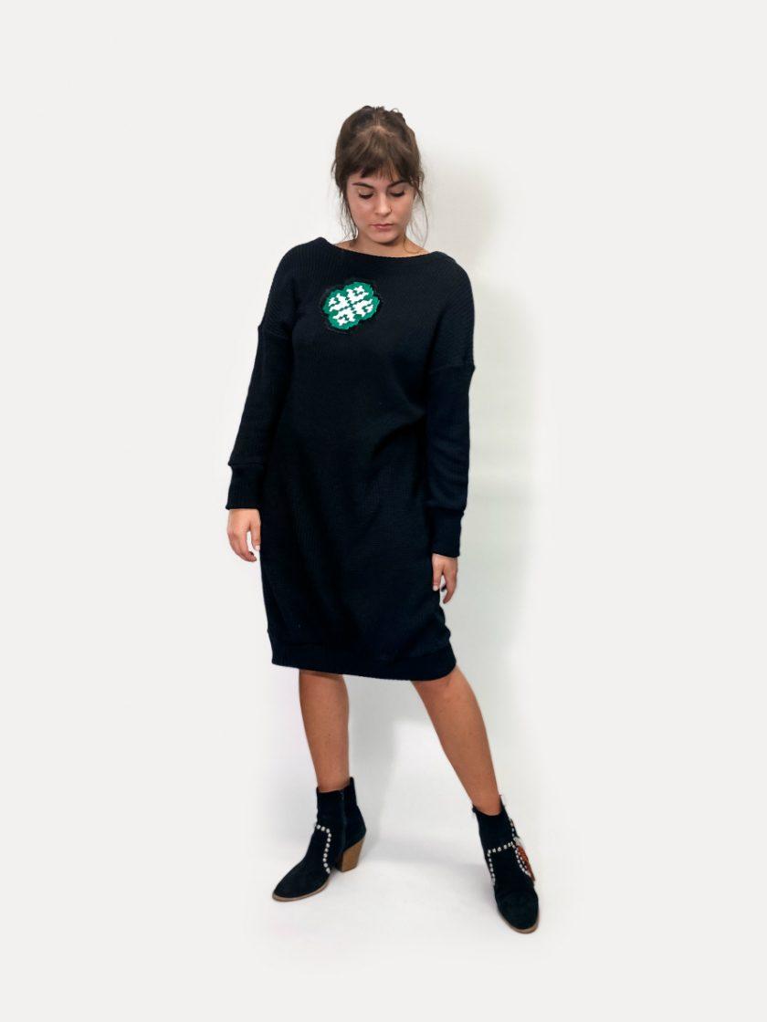 jkh reversible dress black knit dress