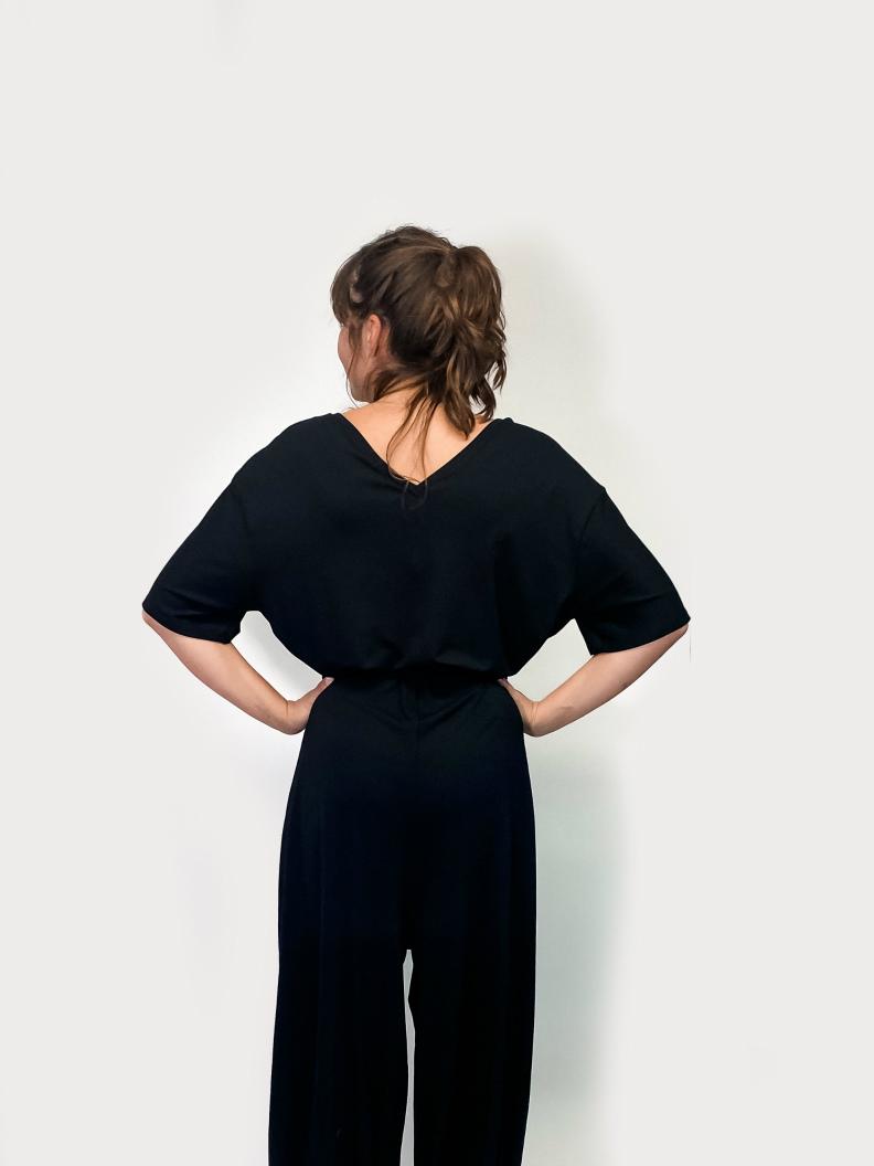 jkh jumpsuit black jersey cozy jumpsuit oversized fit