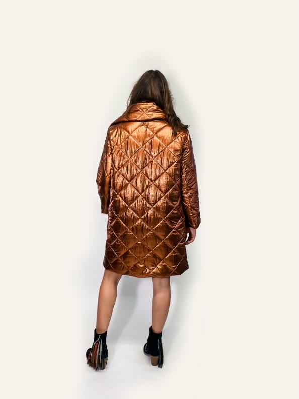 jkh puffer coat bronze metallic coat winter trendy coat