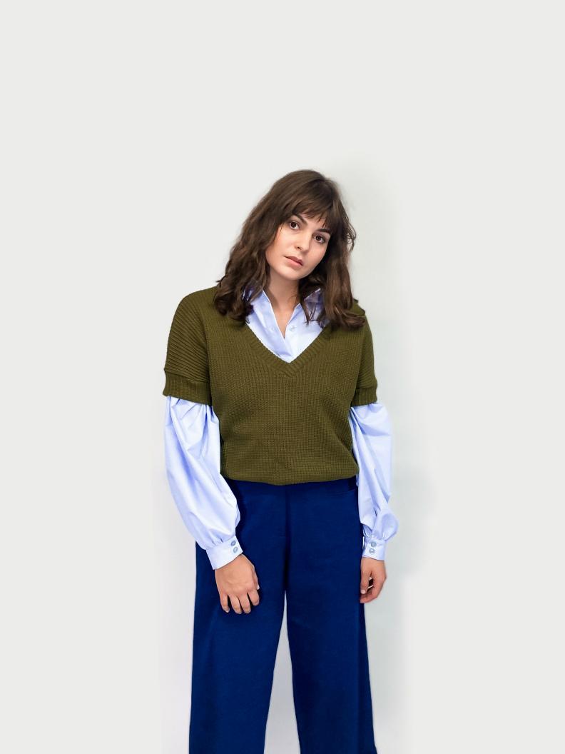 jkh julia kaja hrovat online shop knit V neck vest